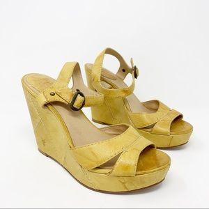Frye Corrina Campus Wedge Sandals Size 8